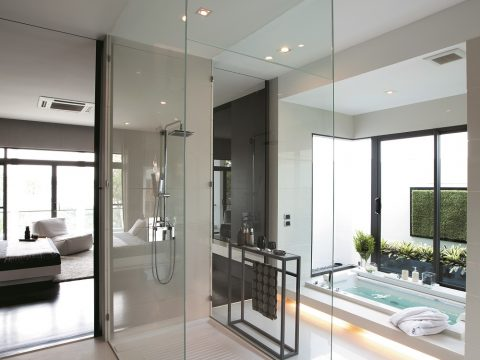Vidrio templado antical TIMELESS baño ducha mampara Facilvitrum