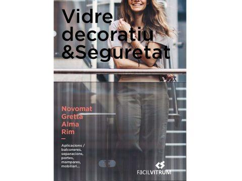 Portada Catàleg vidre decoratiu seguretat Facilvitrum