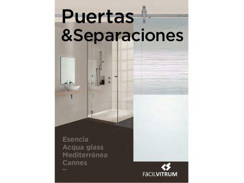 Portada Catálogo vidrio puertas separaciones Facilvitrum